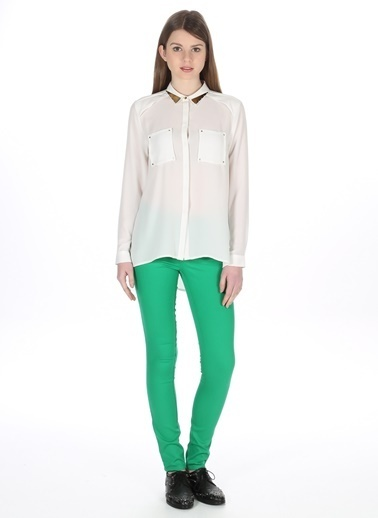 Vero Moda Vero Moda Yeşil Kadın Pantolon Yeşil
